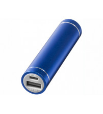 Портативное зарядное устройство 'Bolt', 2200 мА/ч, черный, ярко-синий