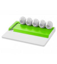Органайзер для кабелей 'Gizmo', белый/зеленый лайм