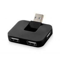 USB Hub 'Gaia' на 4 порта, черный