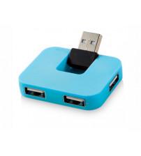 USB Hub 'Gaia' на 4 порта, синий