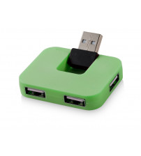 USB Hub 'Gaia' на 4 порта, зеленый