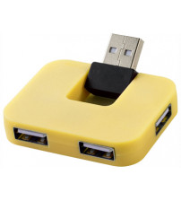 USB Hub 'Gaia' на 4 порта, желтый