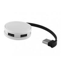 USB Hub 'Round', на 4 порта, белый/черный