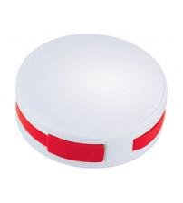 USB Hub 'Round', на 4 порта, белый/красный