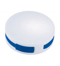 USB Hub 'Round', на 4 порта, белый/ярко-синий