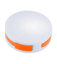 USB Hub 'Round', на 4 порта, белый/оранжевый