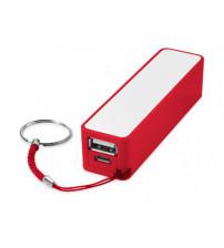Портативное зарядное устройство 'Jive', красный/белый