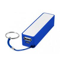 Портативное зарядное устройство 'Jive', ярко-синий/белый