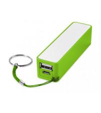 Портативное зарядное устройство 'Jive', лайм/белый