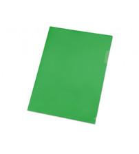 Папка- уголок, для формата А4 (220х305 мм), плотность 180 мкм, зеленая