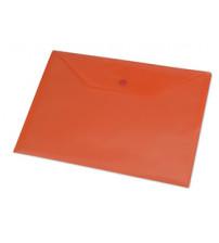 Папка-конверт A4 с кнопкой 0.18 мм, красный