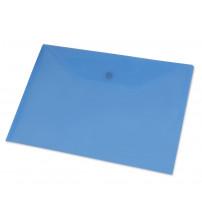 Папка-конверт A4 с кнопкой 0.18 мм, синий