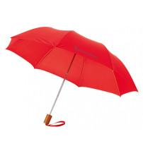 Зонт складной 'Nicea', механический 20', красный
