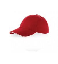 Бейсболка 'Challenge' 6-ти панельная, красный/натуральный