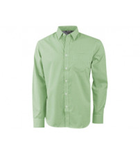 Рубашка 'Net' мужская с длинным рукавом, зеленый