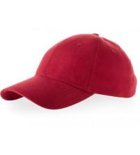 Бейсболка 'Bryson', 6 панелей, красный