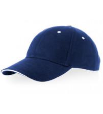 Бейсболка 'Brent' типа «сэндвич», 6 панелей, темно-синий/белый