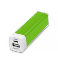 Портативное зарядное устройство 'Ангра', 2200 mAh, зеленое яблоко