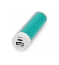 Портативное зарядное устройство 'Ангра', 2200 mAh, бирюзовый