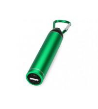 Портативное зарядное устройство 'Марс' с карабином, 2600 mAh, зеленый