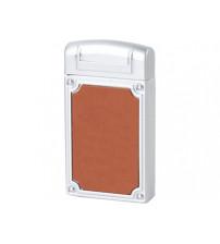 Зажигалка в деревянной коробке, серебристый/коричневый