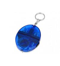 Брелок-рулетка с набором отверток и фонариком, синий