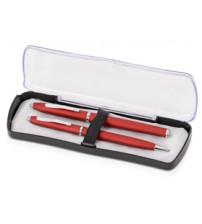 Набор Celebrity «Экзюпери»: ручка шариковая, ручка роллер в футляре красный