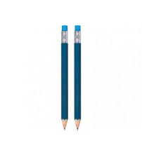 Набор 'Даллас': ручка шариковая, карандаш с ластиком в футляре, синий