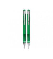 Набор «Онтарио»:ручка шариковая,карандаш в футляре зеленый