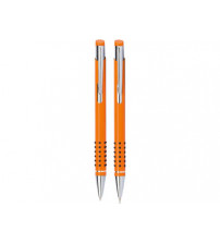 Набор «Онтарио»:ручка шариковая,карандаш в футляре оранжевый