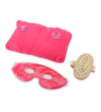 СПА-набор «Блаженство»: массажер для тела, подушка под шею на присосках, охлаждающая гелевая маска для глаз и век