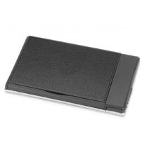 Визитница с флеш-картой USB 2.0 на 4 Gb и ручкой, черный