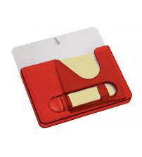 Подставка под ручки с бумажным блоком и крючками для ключей с двумя вариантами крепления – на холодильник и на стену