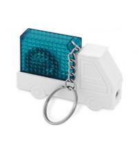 Брелок-рулетка 'Автомобиль', 1 м., с фонариком, белый/синий