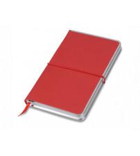 Блокнот 'Silver Rim' красный. Lettertone