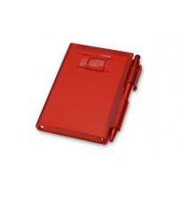 Записная книжка 'Альманах' с ручкой, красный