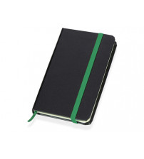 Блокнот 'Имлес', черный/зеленый