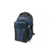 Рюкзак для пикника с набором посуды на 4 персоны и пледом с непромокаемой подкладкой