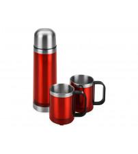 Набор 'Походный': термос, 2 кружки, красный