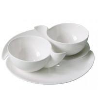 Набор «Инь и Янь»: 2 чашки на 300 мл с блюдцами
