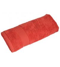 Полотенце махровое большое, красный