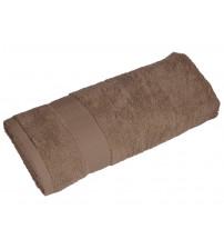 Полотенце махровое большое, коричневый