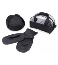 Набор 'Олигарх': ушанка, варежки в сумочке