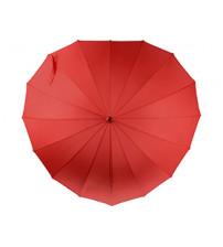 Зонт-трость «I love you» в форме сердца механический