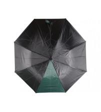 Зонт складной 'Логан' полуавтомат, черный/зеленый