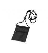 Нагрудный кошелек с 2 отделениями на молнии и прозрачным карманом