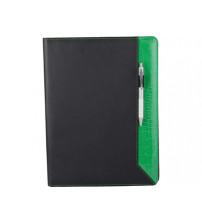 Папка для документов 'Nadine', черный/зеленый