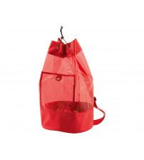 Сумка прозрачная с карманом,красная